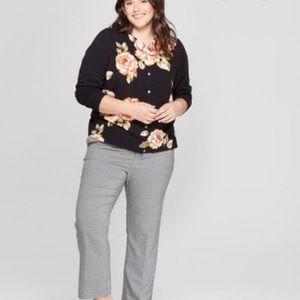 A New Day Floral Black Button Down Cardigan
